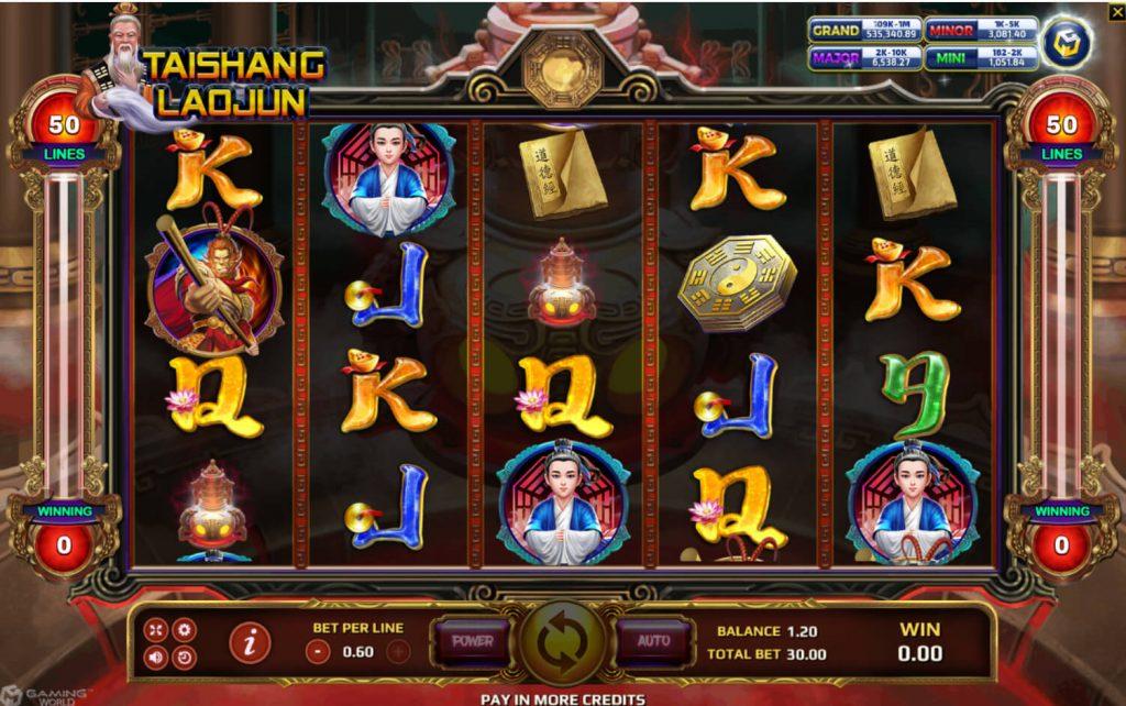หน้าเล่นเกม Tai Shang Lao Jun